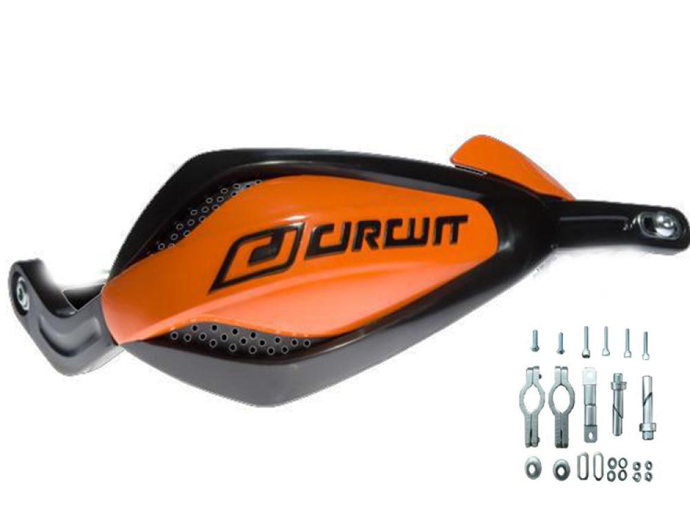 paramani universali CIRCUIT bicomponente arancio e neri Moto cross enduro quad