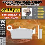FD093G1396 PASTIGLIE FRENO GALFER SINTERIZZATE POSTERIORI TM 530 4T E/CROSS 03-