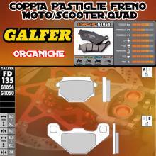 FD135G1050 PASTIGLIE FRENO GALFER ORGANICHE POSTERIORI CAGIVA W12 350 93-