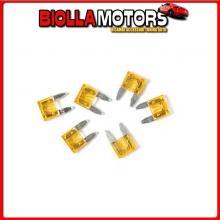 70189 LAMPA SMART LED, SET 6 MICRO-FUSIBILI LAMELLARI CON SPIA A LED, 12/32V - 5A