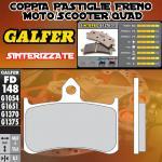FD148G1370 PASTIGLIE FRENO GALFER SINTERIZZATE ANTERIORI HONDA VTR 1000 F SUPER HAWK 996 (USA) 97-99
