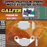 FD135G1651 PASTIGLIE FRENO GALFER PREMIUM POSTERIORI SACHS X ROAD 125 04-