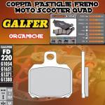 FD220G1054 PASTIGLIE FRENO GALFER ORGANICHE POSTERIORI PEUGEOT SATELIS 500 ABS PBS 07-