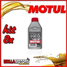 KIT 8X 500ML OLIO MOTUL RACING BRAKE FLUID RBF 600 FACTORY LINE 500 ML - 8x RBF 600 Factory Line
