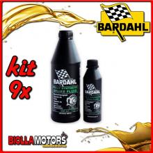 KIT 9X LITRO OLIO BARDAHL BRAKE FLUID RACING DOT 5.1 ABS SINTETICO PER IMPIANTI FRENANTI 1LT - 9x 721039
