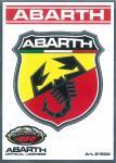 21500 ADESIVO ABARTH RACING TABS 1 SCUDETTO GRANDE