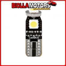 58459 PILOT 12V HYPER-LED 9 - 3 SMD X 3 CHIPS - (T10) - TRIFOCUS - W2,1X9,5D - 2 PZ - SCATOLA - BIANCO - DOPPIA POLARIT? - RESIS