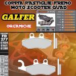 FD277G1054 PASTIGLIE FRENO GALFER ORGANICHE POSTERIORI PEUGEOT GEOPOLIS 250 PREMIUM 06-