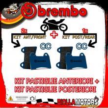 BRPADS-28105 KIT PASTIGLIE FRENO BREMBO ADLY ATV 2005- 300CC [CC+CC] ANT + POST