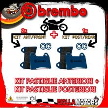 BRPADS-28981 KIT PASTIGLIE FRENO BREMBO HARLEY FLHS ELECTRA GLIDE SPORT 1990- 1340CC [CC+CC] ANT + POST