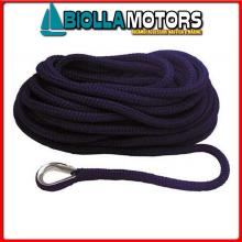 3101421 MOORING LINE NAVY 12MM X 6M< Treccia Mooring Blue Navy con Redancia