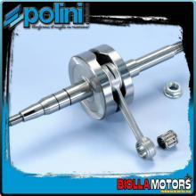 210.0023 ALBERO MOTORE POLINI MBK NITRO 50 H2O BIELLA 85 - SP.12 - CORSA 44 Per variatore con spinotto da d.16mm