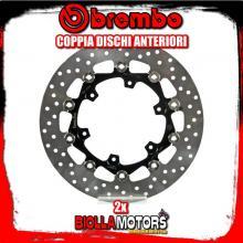 2-78B408A5 COPPIA DISCHI FRENO ANTERIORE BREMBO KTM ENDURO R 2014- 690CC FLOTTANTE