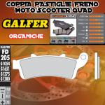 FD205G1054 PASTIGLIE FRENO GALFER ORGANICHE ANTERIORI HONDA ST 1100 PAN EUROPEAN CBS/ABS/TCS 96-01