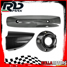 KIT PROTEZIONE MARMITTA YAMAHA T-MAX 530 2012-2016 CARBON LOOK (INTERASSE 255mm)