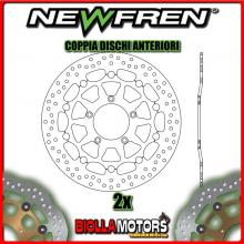 2-DF5233AF COPPIA DISCHI FRENO ANTERIORE NEWFREN MV AGUSTA BRUTALE 750cc S 2003-2005 FLOTTANTE