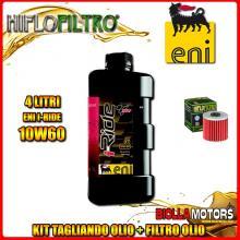 KIT TAGLIANDO 4LT OLIO ENI I-RIDE 10W60 TOP SYNTHETIC KAWASAKI KLX650 A1-A3,D1 (KLX650 R) 650CC 1993-1996 + FILTRO OLIO HF123