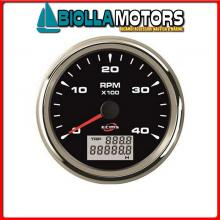 2361409 CONTAGIRI/ORE 4000G BLACK< Contagiri/Contaore Ecms Black Chrome