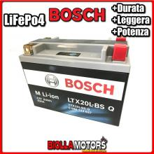 LTX20L-BSQ BATTERIA LITIO BOSCH YTX20L-BS LifePo4 0986122637 YTX20LBS MOTO SCOOTER QUAD CROSS