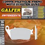 FD266G1370 PASTIGLIE FRENO GALFER SINTERIZZATE ANTERIORI HONDA VT 1100 C2 SHADOW ACE 95-96