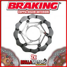 BY102L+BY102R COPPIA DISCHI FRENO ANTERIORE DX + SX BRAKING BMW F 700 GS ABS 800cc 2013-2016 WAVE FLOTTANTE
