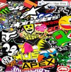 16225 KIT ADESIVI STICKER BOMB cm 35x50