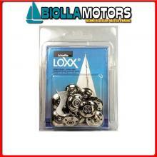 3214293 CONFEZIONE FLANGINA LOXX/TENAX 10PZ 10 Basi Attacco Tessuto Loxx - Tenax in Blister