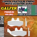 FD162G1651 PASTIGLIE FRENO GALFER PREMIUM ANTERIORI GILERA RUNNER 180 FXR (G) 98-98