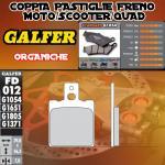 FD012G1054 PASTIGLIE FRENO GALFER ORGANICHE POSTERIORI TM 125 GS, MC 86-89