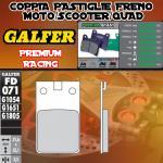FD071G1651 PASTIGLIE FRENO GALFER PREMIUM ANTERIORI GARELLI 50 SUPER CICLONE AC 91-