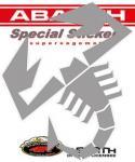 21588 ADESIVO ABARTH PREFUSTELLATI HQ SCORPIONE ARGENTO 240 MM