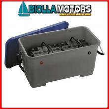 2030014 CASSETTA BATTERIA 520x270x270 Portabatteria in ABS VA2469