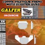 FD094G1054 PASTIGLIE FRENO GALFER ORGANICHE ANTERIORI HYOSUNG SUPER CAB PLUS 50 98-