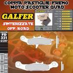 FD321G1397 PASTIGLIE FRENO GALFER SINTERIZZATE ANTERIORI SUZUKI LT-V 700 TWIN PEAKS RIGHT/DER. 04-