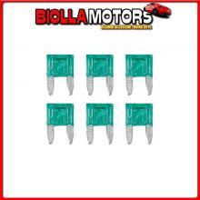 70195 LAMPA SMART LED, SET 6 MICRO-FUSIBILI LAMELLARI CON SPIA A LED, 12/32V - 30A