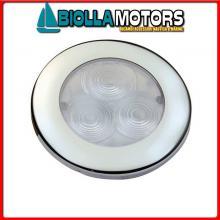 2143008 LUCE POZZETTO LED ROUND D71 INOX Luce Impermeabile LED Round Flush Inox