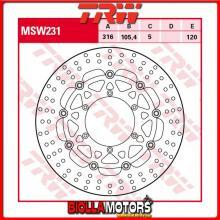 MSW231 DISCO FRENO ANTERIORE TRW MUZ MZ 660 SkorpionSport,Tour 1994-2001 [FLOTTANTE - ]