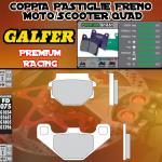 FD075G1651 PASTIGLIE FRENO GALFER PREMIUM POSTERIORI TM 125 GS, MC 90-92