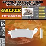 .FD207G1370 PASTIGLIE FRENO GALFER SINTERIZZATE POSTERIORI HONDA ST 1100 PAN EUROPEAN CBS/ABS/TCS 96-01