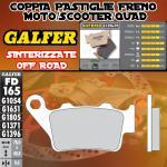FD165G1396 PASTIGLIE FRENO GALFER SINTERIZZATE POSTERIORI TM 400 4T E/CROSS 00-02