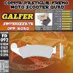 FD092G1396 PASTIGLIE FRENO GALFER SINTERIZZATE POSTERIORI SYM VOYAGER 125 05-