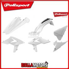P90776 KIT PLASTICHE CARENE BETA RR 480 2018-2019 BIANCO POLISPORT