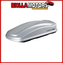 N60028 NORDRIVE BOX 630D, BOX TETTO IN ABS, 630 LITRI, DOPPIA APERTURA - ARGENTO LUCIDO