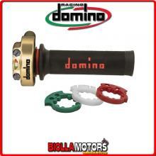 3846.03-00 COMANDO GAS ACCELERATORE XM2 ORO CON MANOPOLE RACING DOMINO HONDA CBR 1000 FIREBLADE 1000CC 08 >