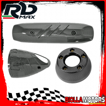 KIT PROTEZIONE MARMITTA YAMAHA T-MAX 500 CARBURATORE 2001-2006 CARBON LOOK (INTERASSE 200mm)
