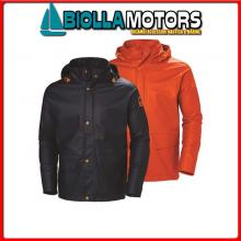 3040661 HH WW GALE RAIN JCKT 290 ORANGE S Giacca Cerata HH Gale Rain Jacket