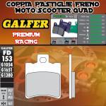 FD153G1651 PASTIGLIE FRENO GALFER PREMIUM ANTERIORI HONDA SH 50 SCOOPY 96-