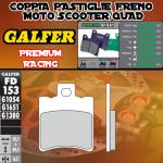 FD153G1651 PASTIGLIE FRENO GALFER PREMIUM ANTERIORI HYOSUNG EXCEED 150 03-