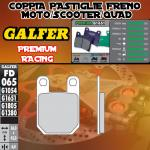 FD065G1651 PASTIGLIE FRENO GALFER PREMIUM POSTERIORI MONKEY BIKE MB 125 SM 06-