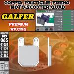 FD065G1651 PASTIGLIE FRENO GALFER PREMIUM POSTERIORI ROXON DUEL TT 06-